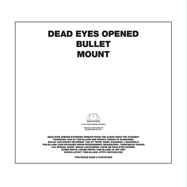 Dark Entries Records Severed Heads Dead Eyes Opened 12 Ep